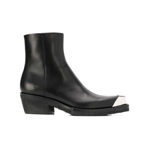 Imagem de Calvin Klein 205W39nyc metallic toe ankle boots - Preto