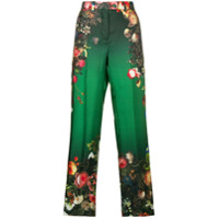 F.r.s For Restless Sleepers Calça Flare Com Bordado Floral - Green