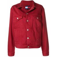 Tommy Jeans Jaqueta Jeans Com Logo - Vermelho