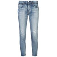 Moussy Vintage Calça Jeans Skinny Destroyed - Azul