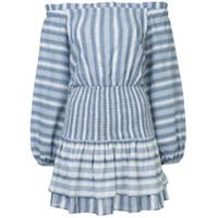 Suboo Vestido Vista Shirred - Azul