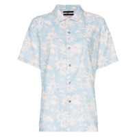 Double Rainbouu Camisa Floral - Azul