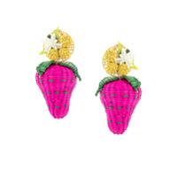 Mercedes Salazar Par De Brincos Wild Strawberries - Rosa