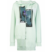 Each X Other Printed Uneven Design Hoodie - Verde