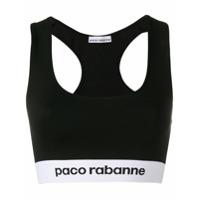Paco Rabanne Top Esportivo Com Logo - Preto