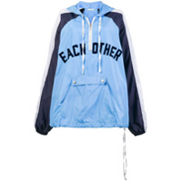 Each X Other Front Logo Rain Hoodie - Azul