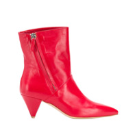 The Seller Pointed Toe Ankle Boots - Vermelho