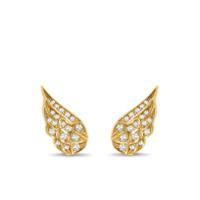 Pragnell Par De Brincos Tiara Em Ouro 18K Com Diamante - Dourado