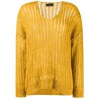 Roberto Collina Suéter Com Bainha Curvada - Amarelo