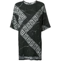 Versace Collection Camiseta Com Estampa Greek Key - Preto