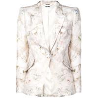 Alexander Mcqueen Blazer Com Estampa Floral - Neutro