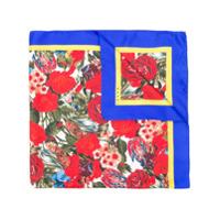 Marni Lenço Com Estampa Floral De Seda - Azul