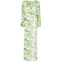 Bernadette Vestido Elizabeth Com Cinto E Estampa Floral - Verde
