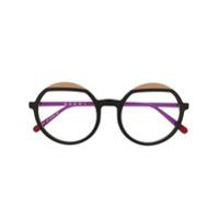 Marni Eyewear Armação De Óculos Redondo Oversized - Vermelho