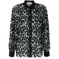 Mantu Camisa Com Aplicação Floral - Preto