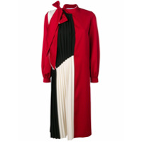 Atu Body Couture Pleated Panel Midi Dress - Vermelho