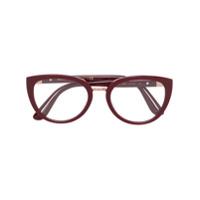 Dolce & Gabbana Eyewear Armação De Óculos Oval - Vermelho