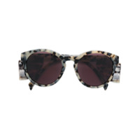 Moschino Eyewear Óculos De Sol Arredondado - Preto