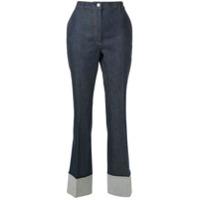 Bottega Veneta Calça Jeans Cropped - Azul