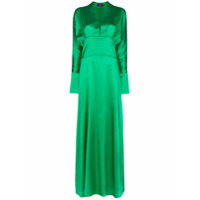 Taller Marmo Vestido Longo Elvira De Seda - Verde