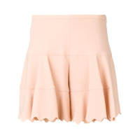 Chloé Scalloped Hem Shorts - Neutro