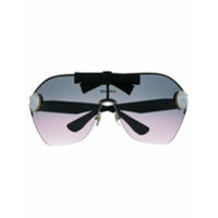 Miu Miu Eyewear Óculos De Sol Oversized Com Cristais E Tachas - Preto