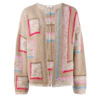 Closed Collarless Knitted Cardigan - Neutro