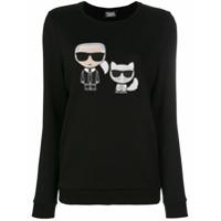 Karl Lagerfeld Moletom 'karl & Choupette Ikonik' - Preto