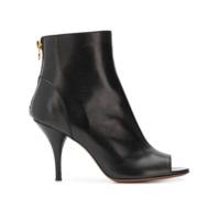 L'autre Chose Peep-Toe Ankle Boots - Preto