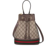 Gucci Bolsa Bucket Ophidia Gg Pequena - Neutro