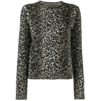 Saint Laurent Suéter Animal Print - Preto