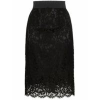 Dolce & Gabbana Saia Lápis De Renda - Preto