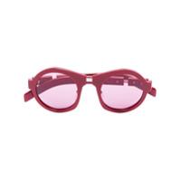 Prada Eyewear Óculos De Sol Redondo - Vermelho