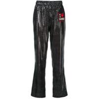 History Repeats Patch Straight-Leg Trousers - Preto