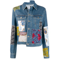 Loewe Jaqueta Jeans Com Patchwork 'paula' - Azul