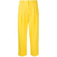 Kenzo Calça Cintura Alta - Amarelo