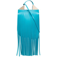 Ree Projects Bolsa Tiracolo Helene Com Franjas - Azul