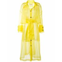 Akira Naka Trench Coat Oversized De Organza - Amarelo