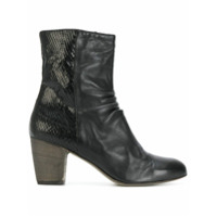 Ink Ankle Boot De Couro - Nero