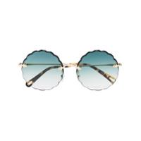 Chloé Eyewear Óculos De Sol Rosie - Verde