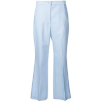 Partow Calça Flare Cropped - Azul
