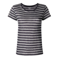 Majestic Filatures Camiseta Listrada Com Estampa - Azul