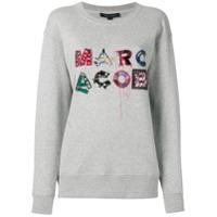 Marc Jacobs Blusa De Moletom Com Logo Bordado - Cinza