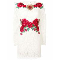 Dolce & Gabbana Vestido De Renda 'rose' - Branco