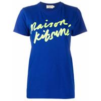Maison Kitsuné Camiseta Com Estampa De Logo - Azul