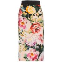 Dolce & Gabbana Saia Lápis Floral - Estampado