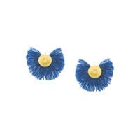 Katerina Makriyianni Brincos De Lã - Azul