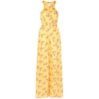 Jill Jill Stuart Macacão Com Estampa Floral E Zíper Frontal - Amarelo