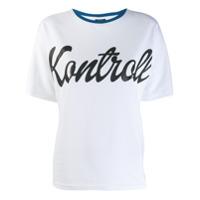 Kappa Kontroll Kontrol Print T-Shirt - Branco