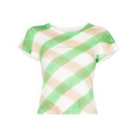 Eckhaus Latta Camiseta Xadrez - Verde